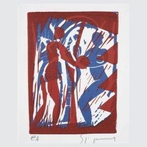Couple with Coconut | Print by Stefan Szczesny | 1997 | litograph | buy online | Szczesny Art Shop