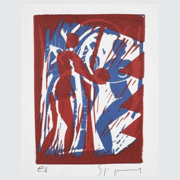 Couple with Coconut   Print by Stefan Szczesny   1997   litograph   buy online   Szczesny Art Shop