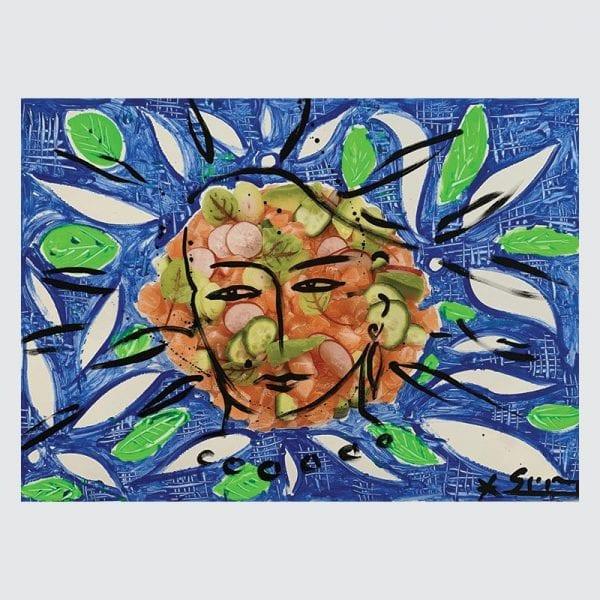 Art & Food 2 | Painting by Stefan Szczesny | 2019 | Acrylic on Canvas | buy online | Szczesny Art Shop