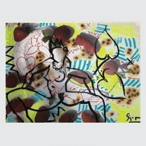 Art & Food 4 | Painting by Stefan Szczesny | 2019 | Acrylic on Canvas | buy online | Szczesny Art Shop