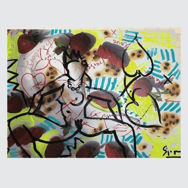 Art & Food 4   Painting by Stefan Szczesny   2019   Acrylic on Canvas   buy online   Szczesny Art Shop