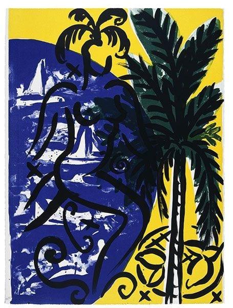 Baie des Anges   Print by Stefan Szczesny   1999   silk screen on paper   buy online   Szczesny Art Shop