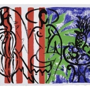 Banana in Stripes Mustique Diary | Print by Stefan Szczesny | 1999 | screen print on paper | buy online | Szczesny Art Shop
