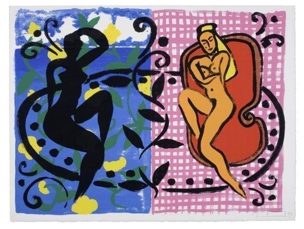 Carribean Dancers Mustique Diary | Print by Stefan Szczesny | 1999 | silk screen on paper | buy online | Szczesny Art Shop