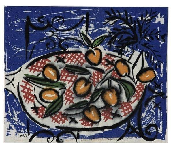 Szczesny Cherries | Print by Stefan Szczesny | 2000 | silk screen on cotton | buy online | Szczesny Art Shop