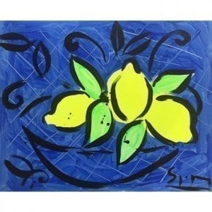 Citrons | Painting by Stefan Szczesny | 2018 | Acrylic on Canvas | buy online | Szczesny Art Shop