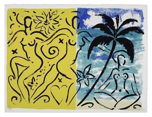 Coco on Palm Beach | Print by Stefan Szczesny | 1999 | silk screen on paper | buy online | Szczesny Art Shop