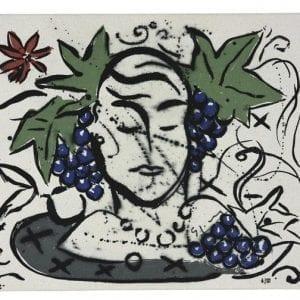 Eva as a Winequeen | Print by Stefan Szczesny | 2000 | silk screen on cotton | buy online | Szczesny Art Shop