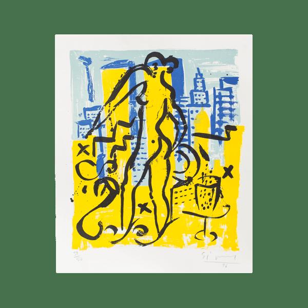 Eva Serie 2 - Eva in New York   Print by Stefan Szczesny   1996   Print on Paper   buy online   Szczesny Art Shop