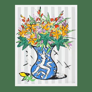 Flowers on Stripes | Print by Stefan Szczesny | 1999 | Print on Paper | buy online | Szczesny Art Shop