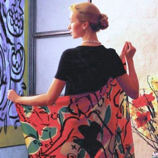 Foulard la dolce vita   Fashion by Stefan Szczesny   2000   silk   buy online   Szczesny Art Shop