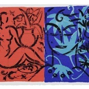 Jacaranda Garden Mustique Diary | Print by Stefan Szczesny | 1999 | silk screen on paper | buy online | Szczesny Art Shop