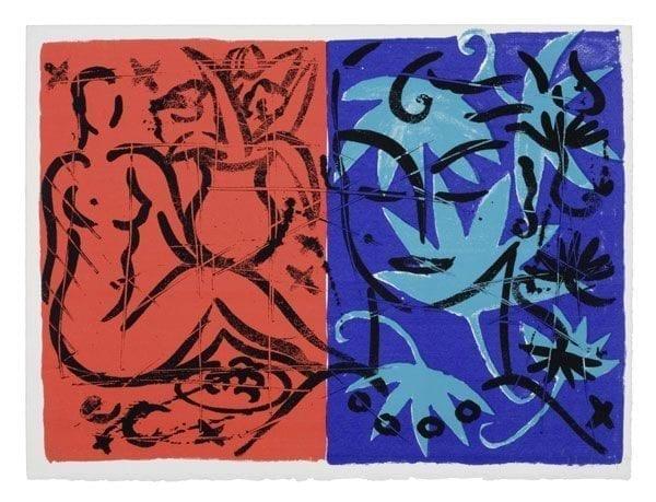 Jacaranda Garden Mustique Diary   Print by Stefan Szczesny   1999   silk screen on paper   buy online   Szczesny Art Shop