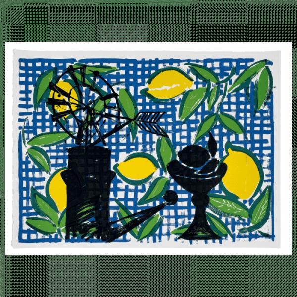 Lemons - Mallorca Suite | Print by Stefan Szczesny | 2000 | silk screen on paper | buy online | Szczesny Art Shop