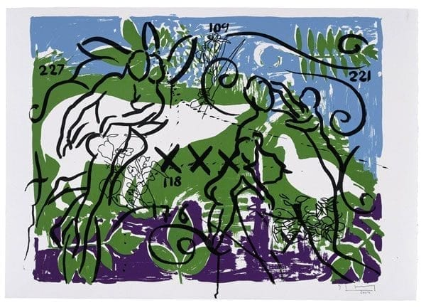 Living Planet 1 | Print by Stefan Szczesny | 2000 | silk screen on cotton | buy online | Szczesny Art Shop