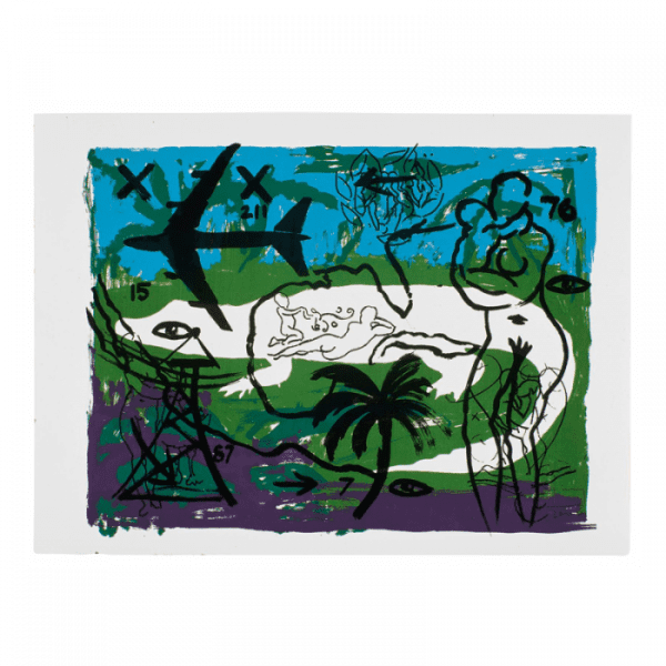 Living Planet 2 | Painting by Stefan Szczesny | 2000 | silk screen on cotton | buy online | Szczesny Art Shop