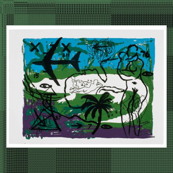 Living Planet 2 | Print by Stefan Szczesny | 2000 | silk screen on cotton | buy online | Szczesny Art Shop