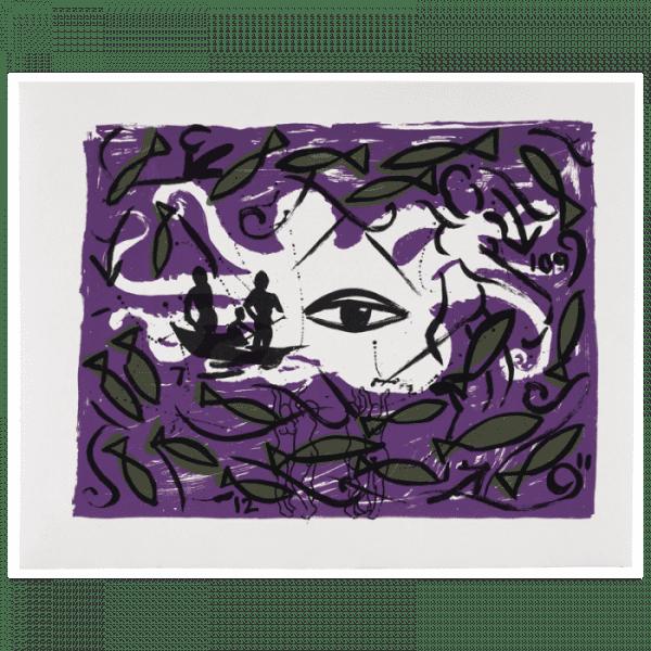 Living Planet 4 | Print by Stefan Szczesny | 2000 | silk screen on cotton | buy online | Szczesny Art Shop