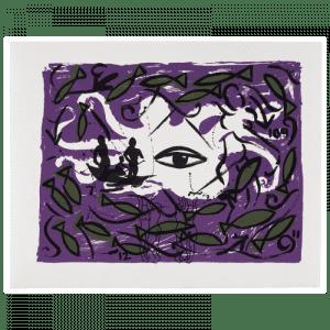 Living Planet 4 | Print by Stefan Szczesny | 2000 | silk screen on paper | buy online | Szczesny Art Shop