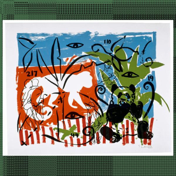 Living Planet 9   Print by Stefan Szczesny   2000   silk screen on cotton   buy online   Szczesny Art Shop