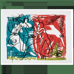 Living Planet 5 | Print by Stefan Szczesny | 2000 | silk screen on cotton | buy online | Szczesny Art Shop