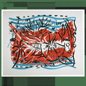 Living Planet 6 | Printing by Stefan Szczesny | 2000 | silk screen on cotton | buy online | Szczesny Art Shop