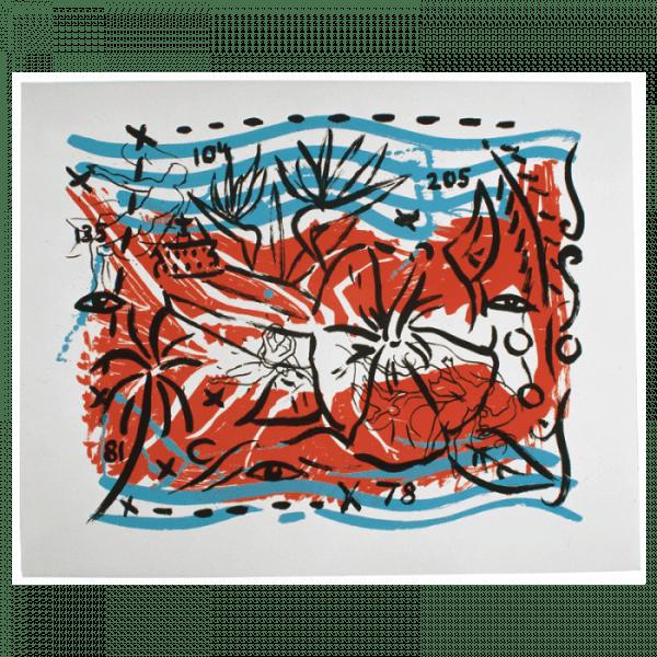 Living Planet 6   Printing by Stefan Szczesny   2000   silk screen on cotton   buy online   Szczesny Art Shop