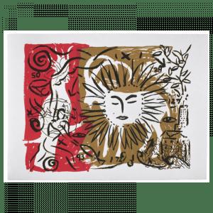 Living Planet 7 | Print by Stefan Szczesny | 2000 | silk screen on cotton | buy online | Szczesny Art Shop