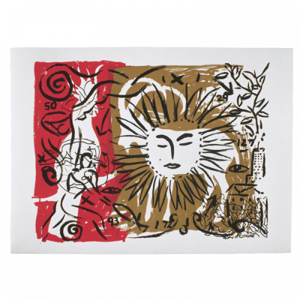 Living Planet 7   Print by Stefan Szczesny   2000   silk screen on cotton   buy online   Szczesny Art Shop