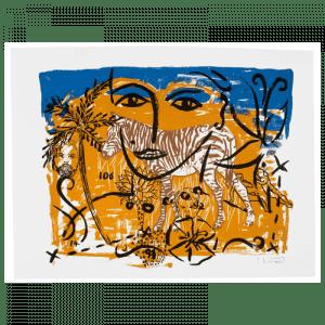 Living Planet 8 | Print by Stefan Szczesny | 2000 | silk screen on cotton | buy online | Szczesny Art Shop