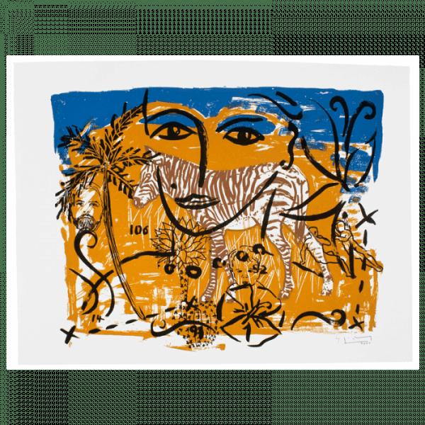 Living Planet 8   Print by Stefan Szczesny   2000   silk screen on cotton   buy online   Szczesny Art Shop