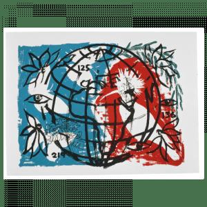 Living Planet 10 | Print by Stefan Szczesny | 2000 | silk screen on cotton | buy online | Szczesny Art Shop