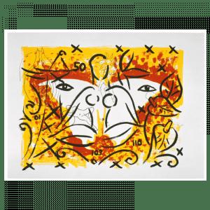 Living Planet 11 | Print by Stefan Szczesny | 2000 | silk screen on cotton | buy online | Szczesny Art Shop