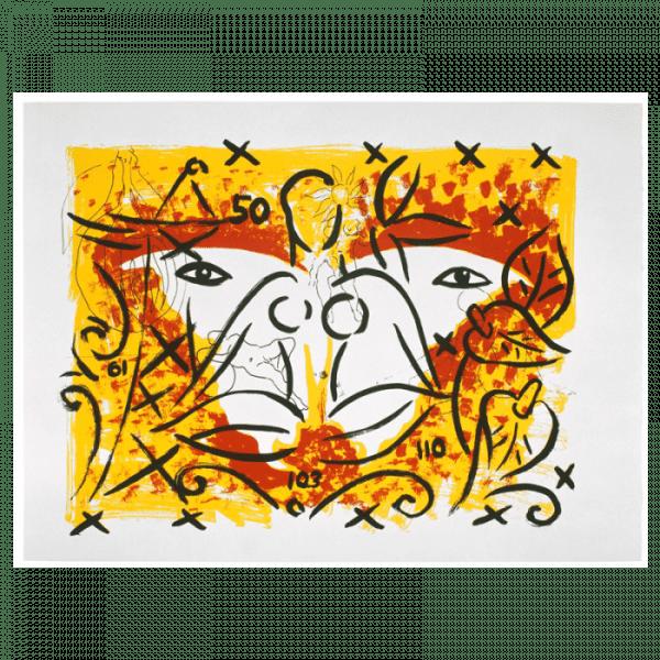 Living Planet 11   Print by Stefan Szczesny   2000   silk screen on cotton   buy online   Szczesny Art Shop