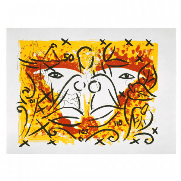 Szczesny Living Planet 9 | Print by Stefan Szczesny | 2000 | silk screen on cotton | buy online | Szczesny Art Shop