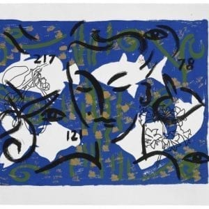 Living Planet 12 | Printing by Stefan Szczesny | 2000 | silk screen on cotton | buy online | Szczesny Art Shop