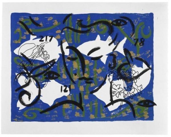 Living Planet XII | Print by Stefan Szczesny | 2000 | silk screen on Paper | buy online | Szczesny Art Shop