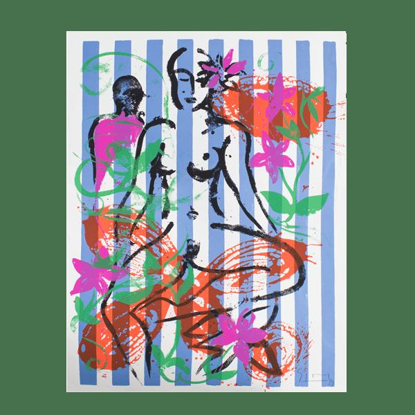 SZCZESNY - NUDE IN JERICHO GARDEN   Print by Stefan Szczesny   1999   Print on Paper   buy online   Szczesny Art Shop
