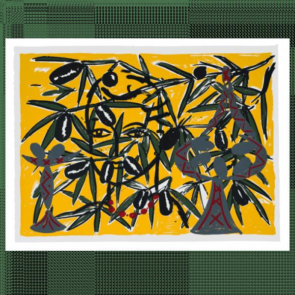 Szczesny- Olive Branch Mallorca | Print by Stefan Szczesny | 2000 | screen print on paper | buy online | Szczesny Art Shop