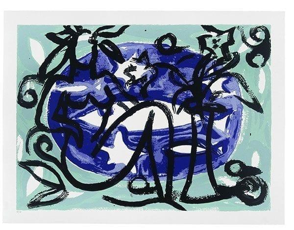 Seaside 3   Print by Stefan Szczesny   2001   silk screen on paper   buy online   Szczesny Art Shop