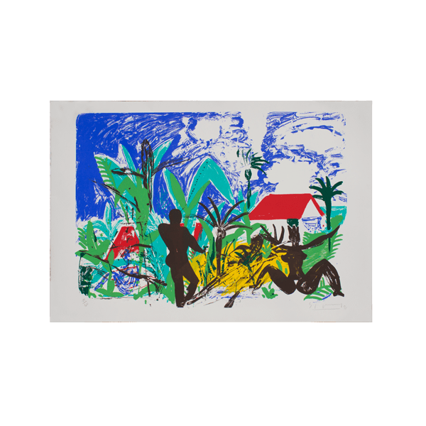 St. Lucia | Print by Stefan Szczesny | 1991 | Print on Paper | buy online | Szczesny Art Shop