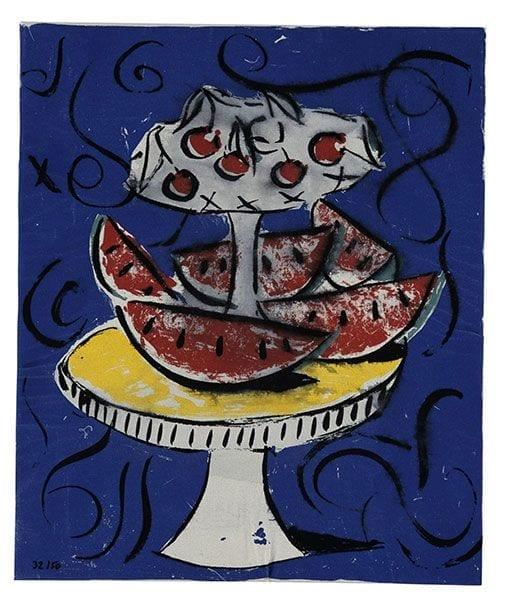 Still Life 2   Print by Stefan Szczesny   2000   silk screen on cotton   buy online   Szczesny Art Shop