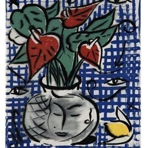 Still Life with Flowers | Print by Stefan Szczesny | 2000 | silk screen on cotton | buy online | Szczesny Art Shop