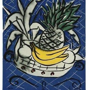 Still Life with Pineapple | Print by Stefan Szczesny | 2000 | silk screen on cotton | buy online | Szczesny Art Shop
