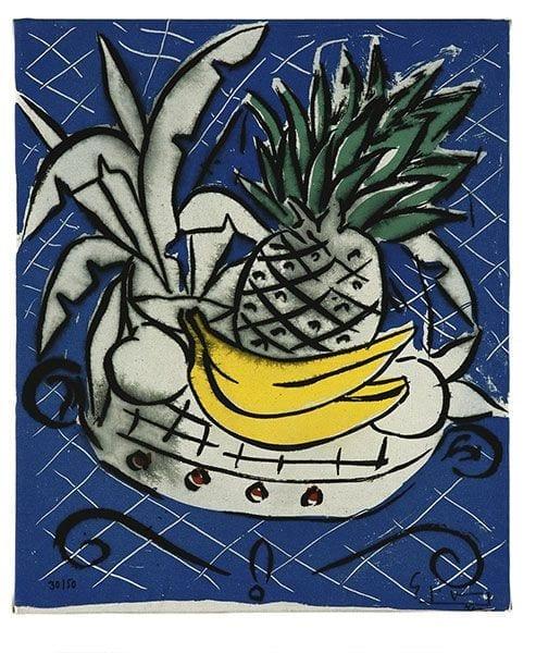Still Life with Pineapple   Print by Stefan Szczesny   2000   silk screen on cotton   buy online   Szczesny Art Shop
