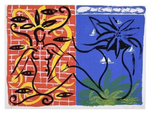 Szczesny - The Eyes of Mandalay | Print by Stefan Szczesny | 1999 | silk screen on paper | buy online | Szczesny Art Shop