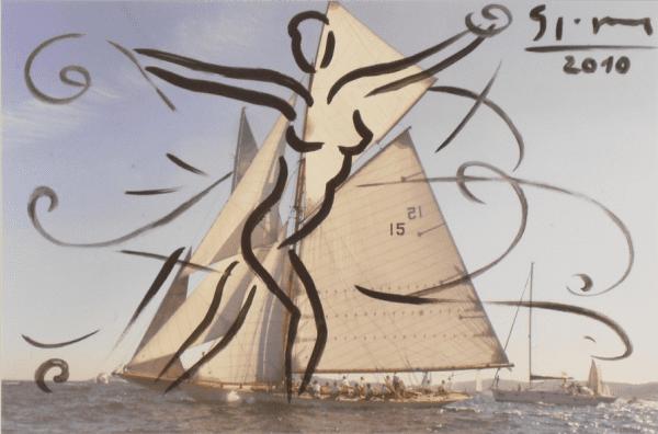 Les Voiles de Saint Tropez IV | Painting by Stefan Szczesny | 2010 | Acrylic on Photo | buy online | Szczesny Art Shop
