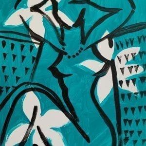 Flowers for Eva   Painting by Stefan Szczesny   2019   Acrylic on Canvas   buy online   Szczesny Art Shop