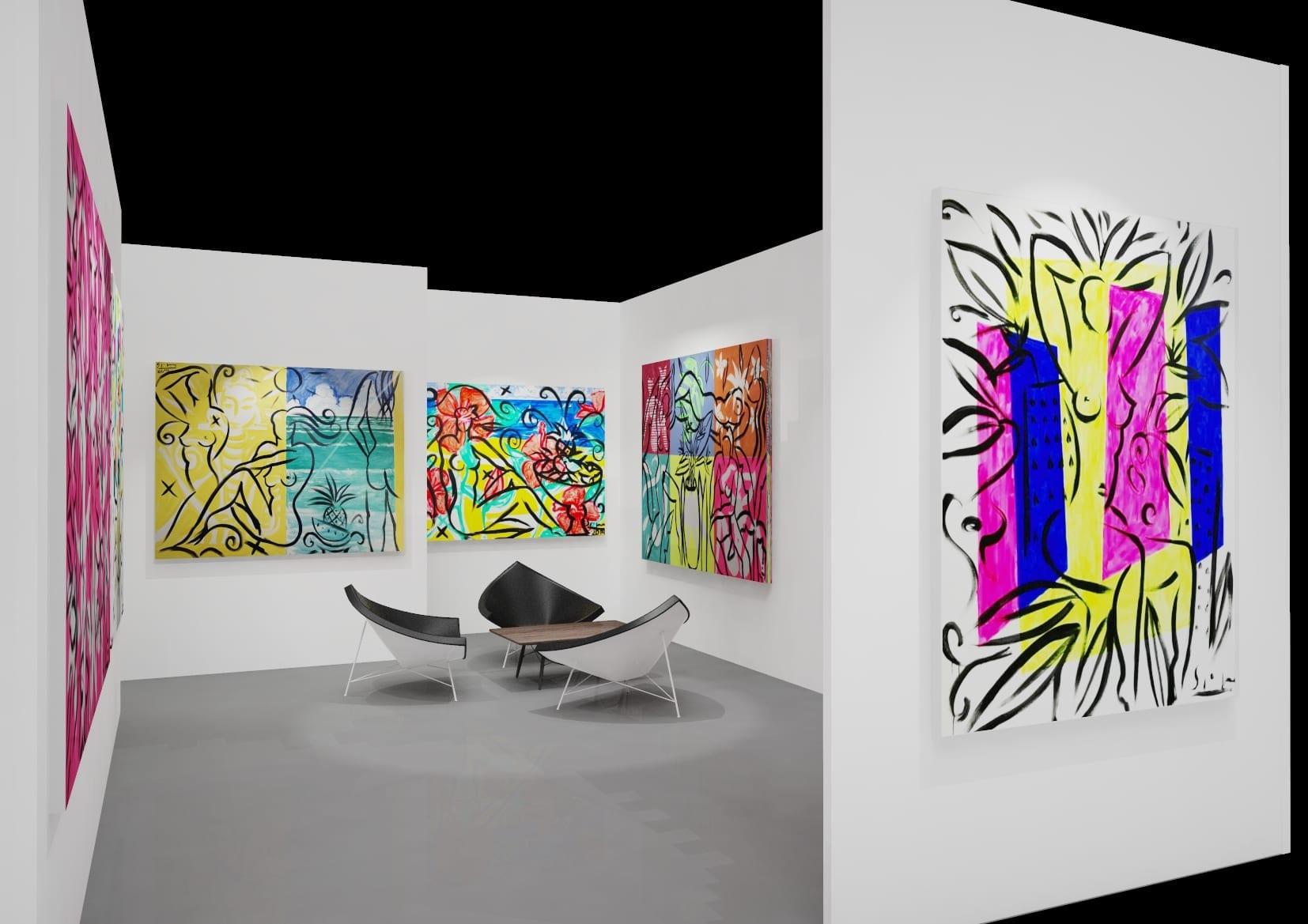 Art Basel Miami | Paintings by Stefan Szczesny | 2019 | Acrylic on Canvas | buy online | Szczesny Art Shop
