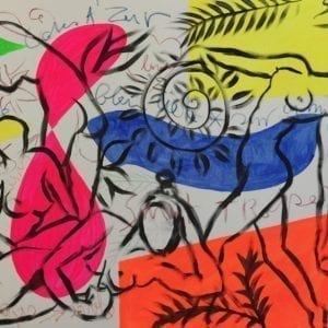 Scene of Cote d'Azur   Painting by Stefan Szczesny   2016   Acrylic on Canvas   buy online   Szczesny Art Shop